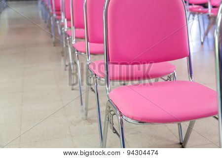 Meeting room chair lined up