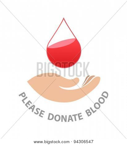 Digitally generated please donate blood vector