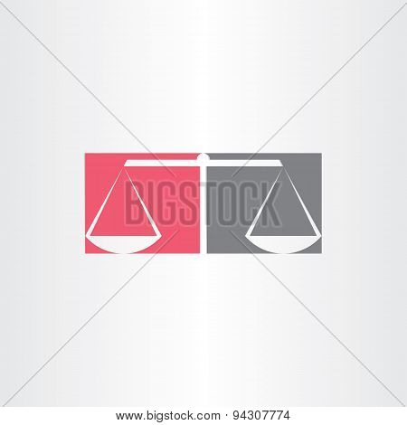 Scales Of Justice Symbol Design