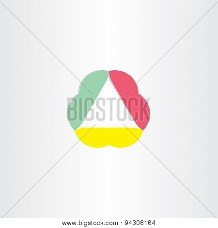 Abstract Business Triangle Icon
