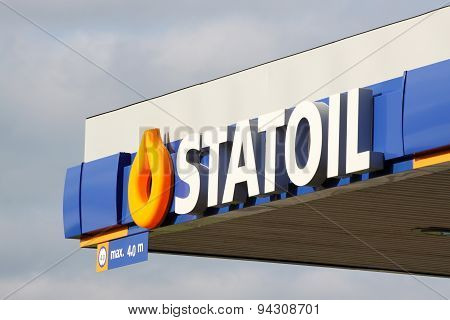 Statoil logo on a gas station