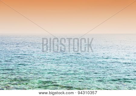 Abstract ocean landscape