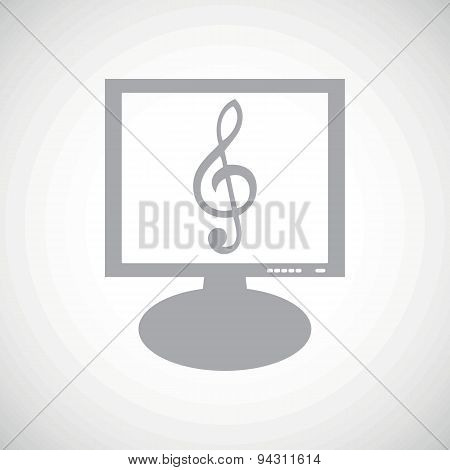 Music grey monitor icon