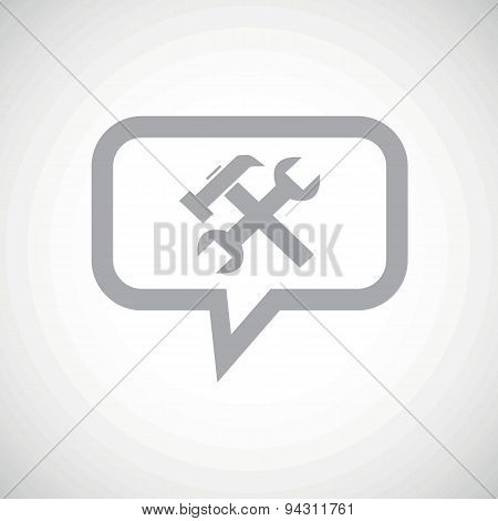 Repairs grey message icon