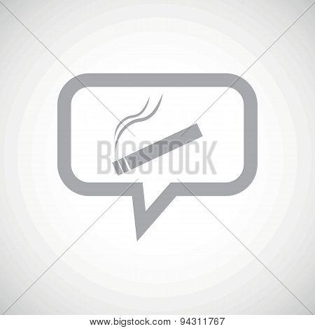 Smoking grey message icon