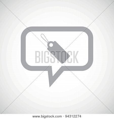String tag grey message icon