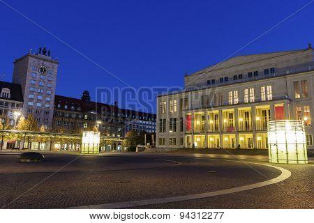 Leipzig Opera And Augustus Square