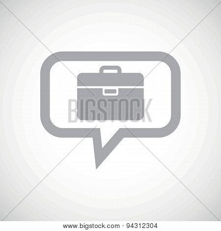 Briefcase grey message icon