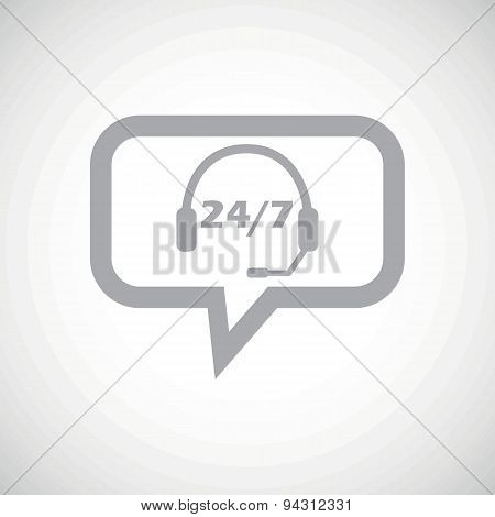 Overnight daily support grey message