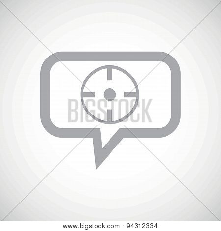 Target grey message icon