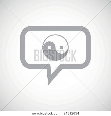 Ying yang grey message icon