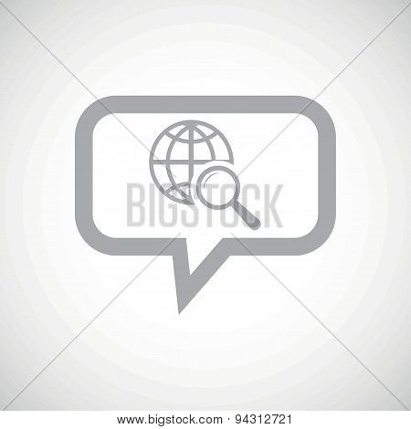 Global search grey message icon