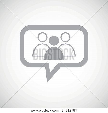 Group leader grey message icon