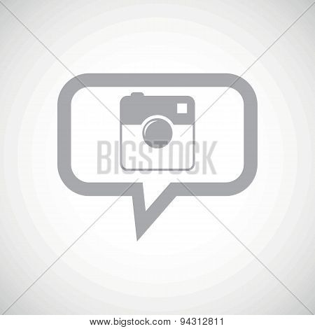 Square camera grey message icon