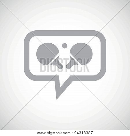 Table tennis grey message icon