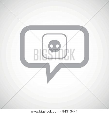 Socket grey message icon