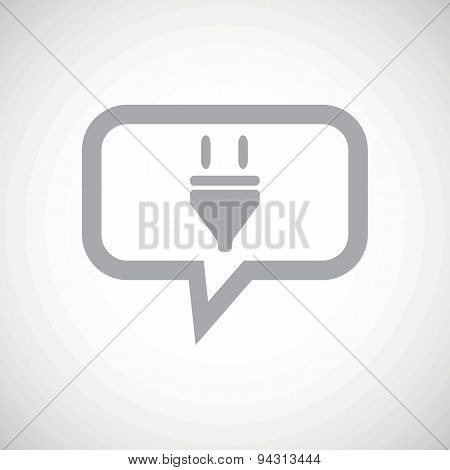 Plug grey message icon