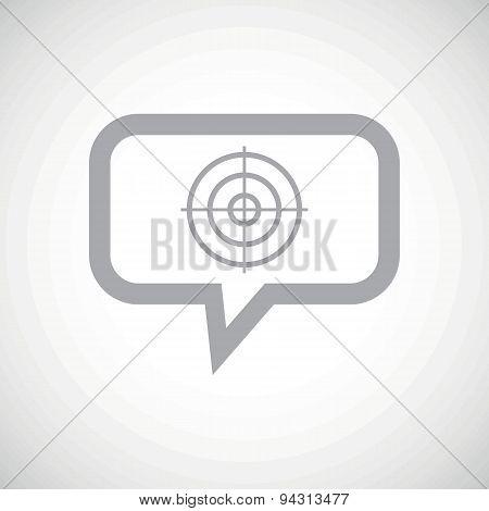 Aim grey message icon