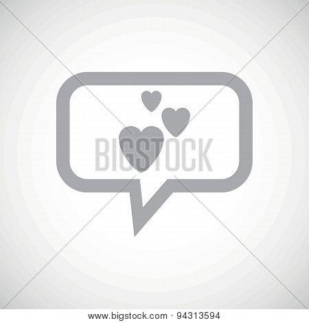Love grey message icon