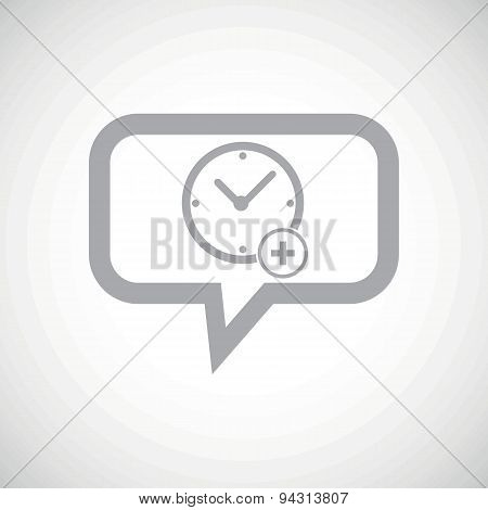 Add time grey message icon