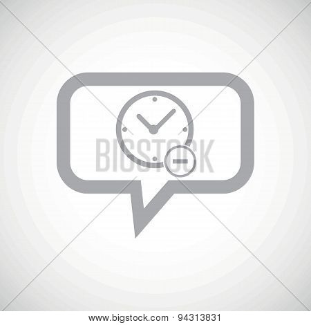 Reduce time grey message icon