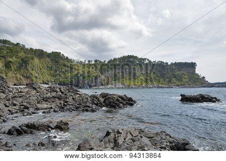 Hwanguji Coast In Jeju Island