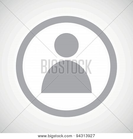 Grey user sign icon