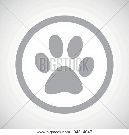 Grey paw sign icon