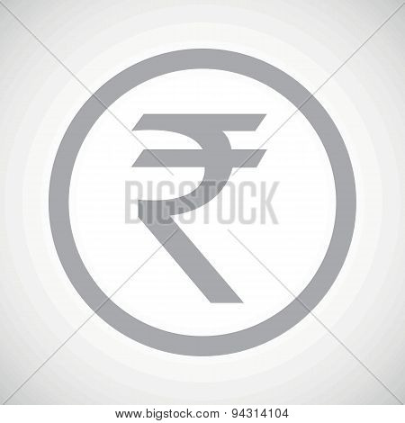 Grey rupee sign icon