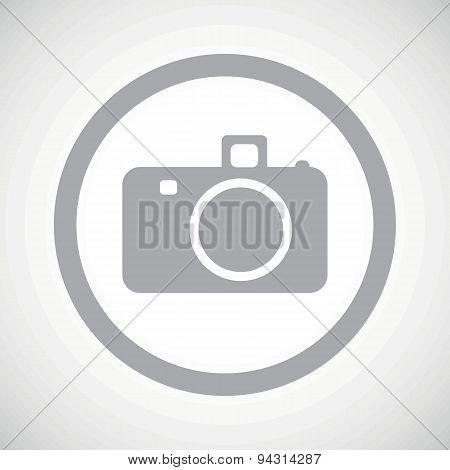 Grey camera sign icon