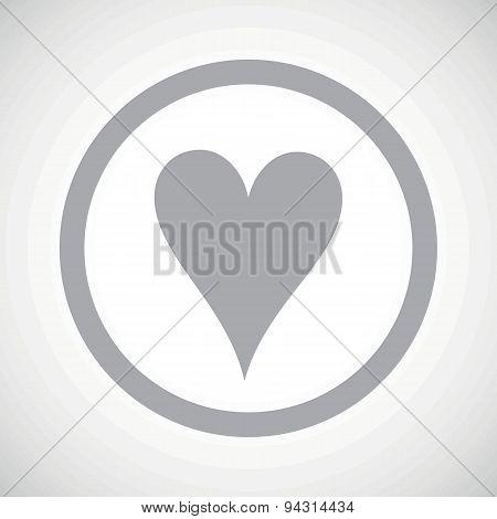 Grey hearts sign icon