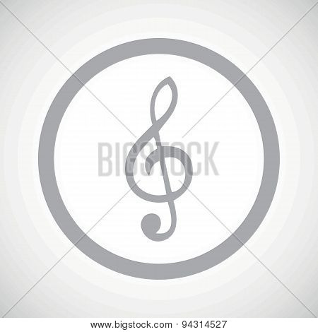 Grey treble clef sign icon