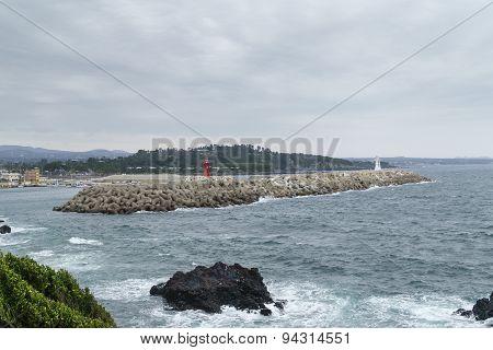 Hahyo Port In Jeju Island.