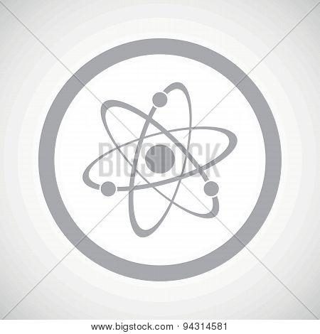 Grey atom sign icon