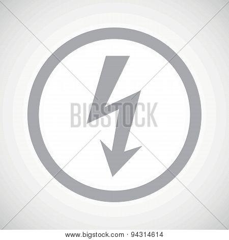 Grey voltage sign icon