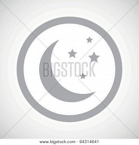 Grey night sign icon