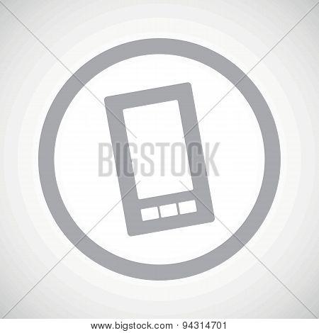 Grey smartphone sign icon