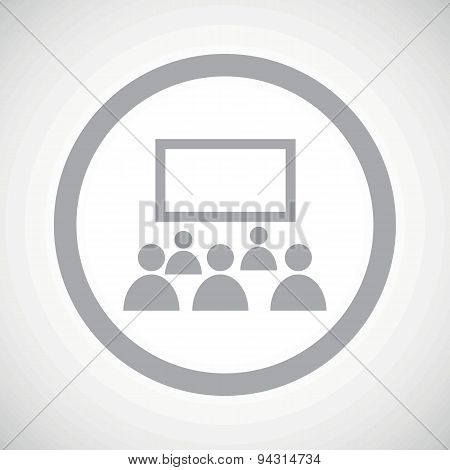Grey audience sign icon