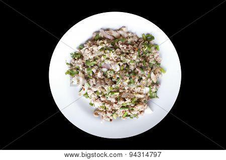 Spicy minced pork, thai food