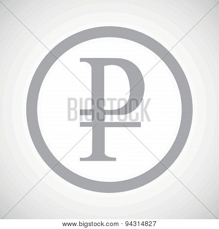 Grey ruble sign icon