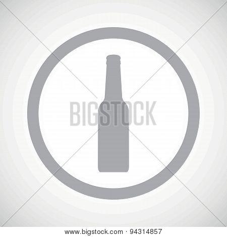 Grey bottle sign icon