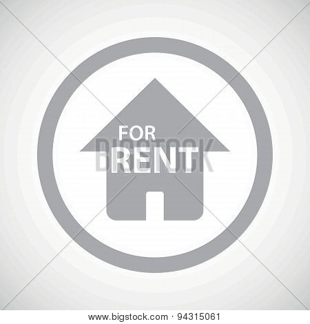 Grey FOR RENT sign icon