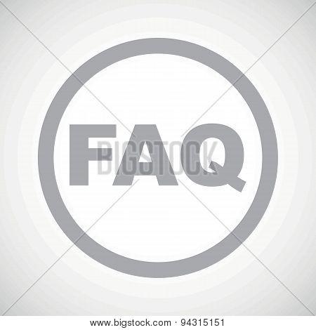 Grey FAQ sign icon