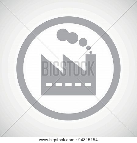 Grey factory sign icon