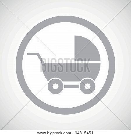 Grey pram sign icon