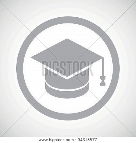 Grey graduation sign icon