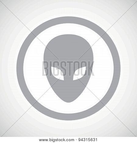 Grey alien sign icon