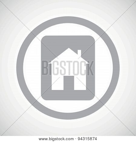 Grey house plate sign icon