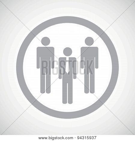 Grey work team sign icon