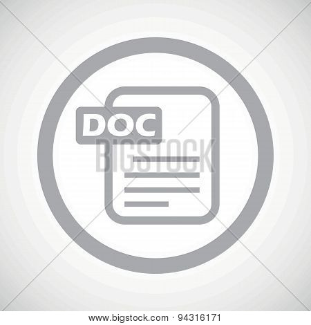 Grey DOC file sign icon